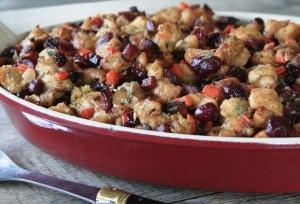 Sourdough, Cranberry and Chorizo Stuffing