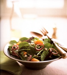 Spinach Salad with Roasted Beets