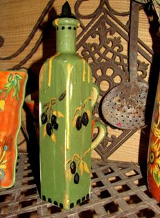 Olive Oil Container by Linda Suydam Swatez