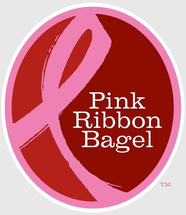 Pink Ribbon Bagel Campaign Logo