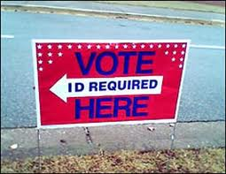 Vote ID Required sign