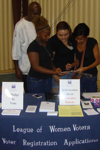 LWV voter registration
