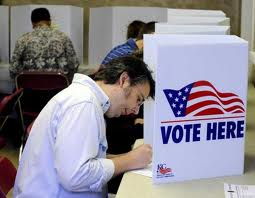casting ballots