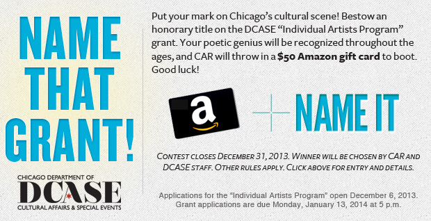 Win $50 and rename the DCASE Individual Artists grant.