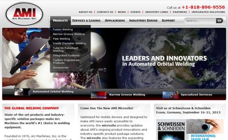 full website banner