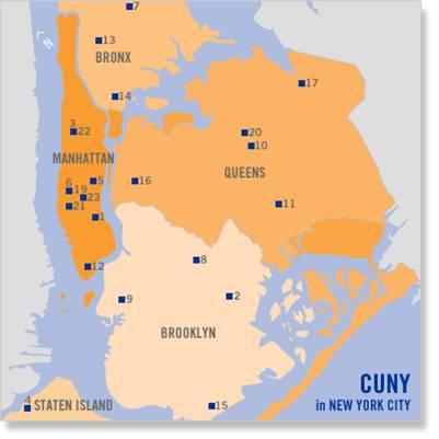 CUNY Campus map