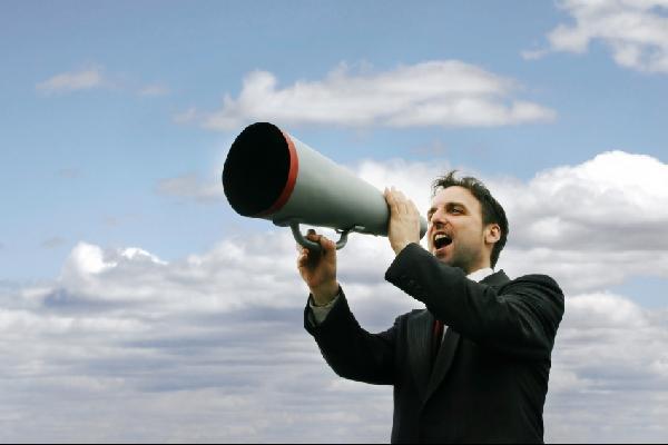 megaphone man