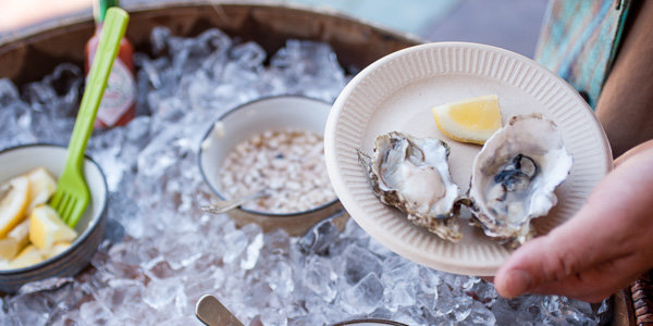 Annual Oyster and White Wine release party at Syncline Winery