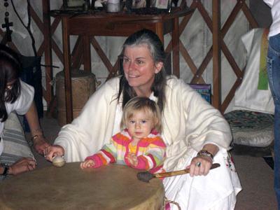 Center for Sacred Studies CEO Darlene Hunter with granddaughter Gabriella
