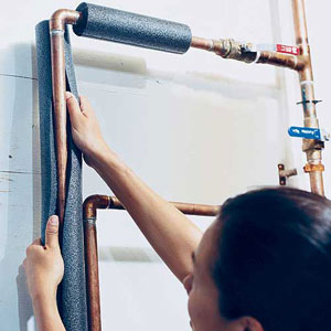 Insulating Hot Water Pipes