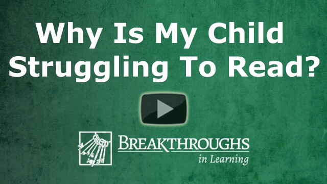 Why is my child struggling to read?