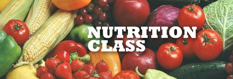 nutrition class banner