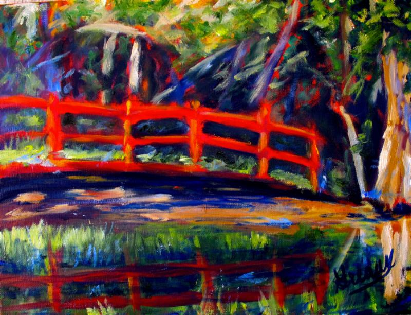 Spring Silhouettes And Shadows >> Barbara Greaux - 'Red Bridge'