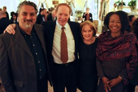 Azar Hussain, Dr. Douglas Johnston, Terry Flood, Dr. Gail Christopher (photo: Karen Elliott Greisdorf)