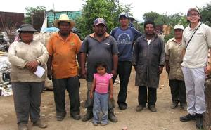 Jose Carlos with rag-pickers