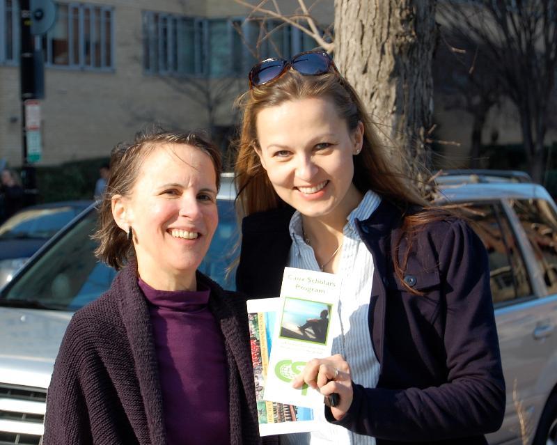 Jitka Hromek-Vaitla and former director Kathy Aquilia