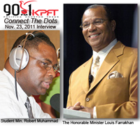 Bro. Robert and Minister Louis Farrakhan