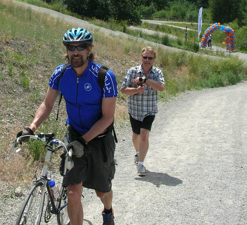 NAMI Bikes finish line