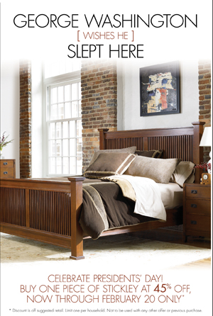45% Off One Stickley Piece During Presidents Day Weekend ...