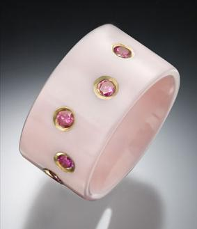 pink ceramic purple diamonds gabriner