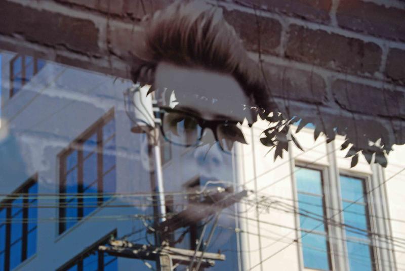 Man in window sf