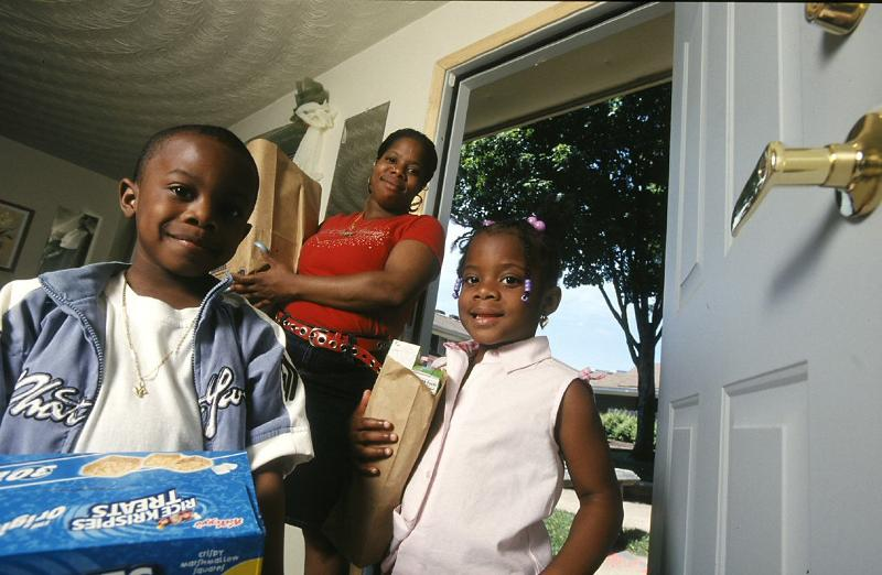 Family in affordable housing