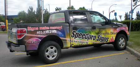 Speedpro Signs Calgary North Truck