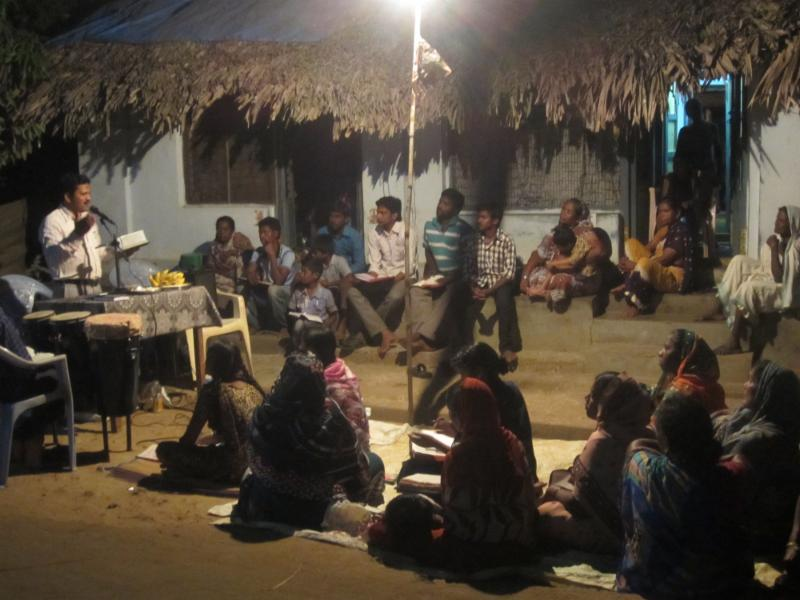 Open Air PreachingWith CRA in Ramachandrapuram