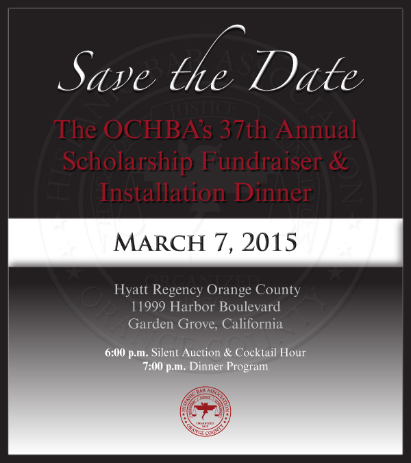 Save the date: 2015 Installation Dinner