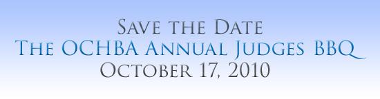 October 17 Judges BBQ