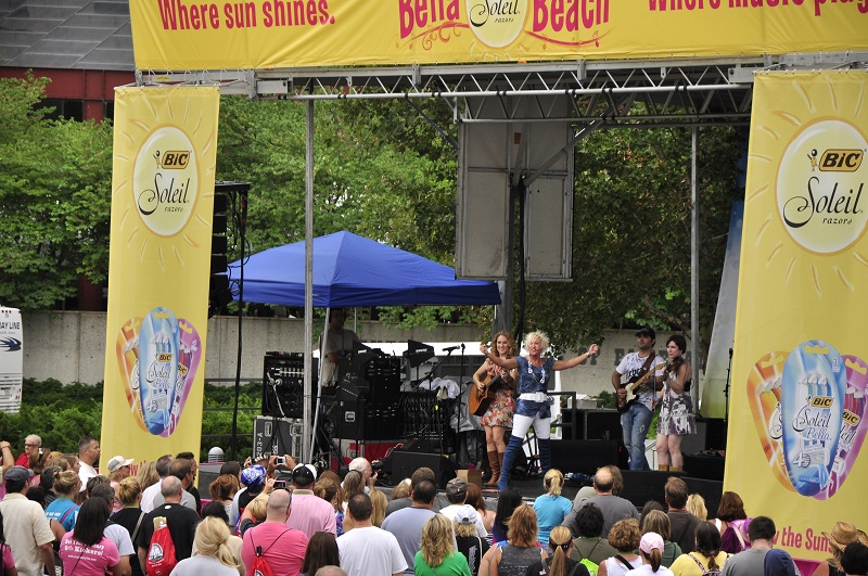 Mustang Sally Stage Shot At CMA Fest 6.101.12
