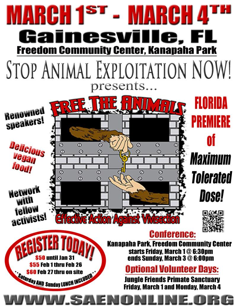 Free the Animals flyer