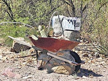 Wheelbarrow Mailbox