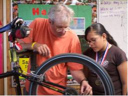 CT teaching bike building