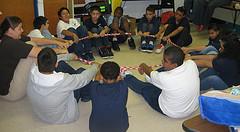Wells Fargo teambuilding activity