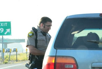 Deputy Yazzolino conducts a traffic stop