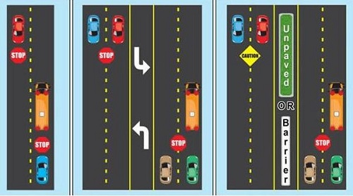 Oregon Driver Manual image - where to stop for busses