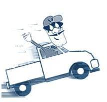 Dumb Crook in a white truck
