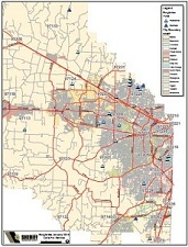 A map of burglaries in unincorporated Washington County, January 2014.