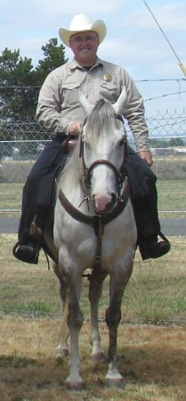 Posse member on horseback