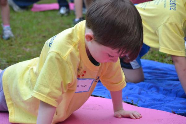 May River student participates in the Physical Fitness Test