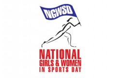 National Girls and Women in Sports Day Logo