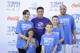 Lopez with the Porter Family