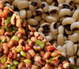 Black-eyed peas are nutritious and good luck in the new year.