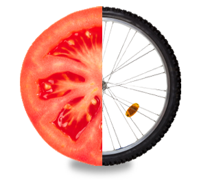 USDA Super Tracker Tomato Bike Wheel