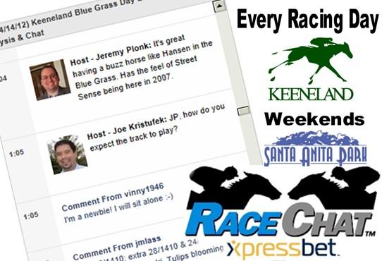 Saturday Keeneland Amp Santa Anita Xpressbet Racechats With