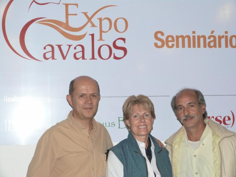 Mary, Paulo and partner Sergio at Expo Cavalos 2013.