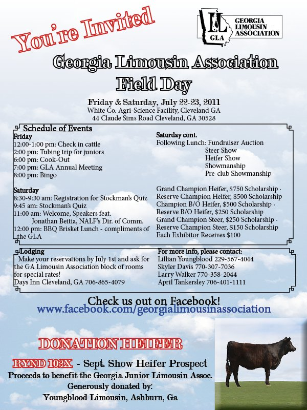 Georgia Limousin Assoc. Field Day