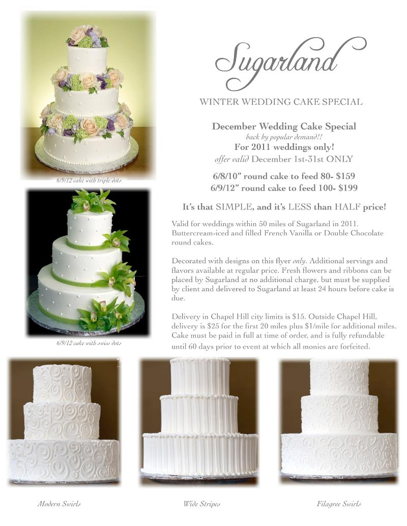 Winter Wedding Cake Special