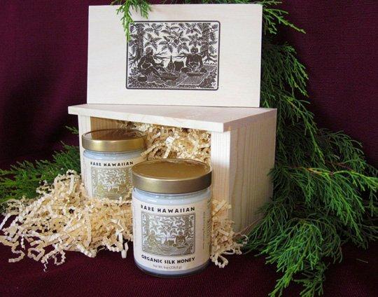 Rare Hawaiian Organic White Honey and Silk Honey
